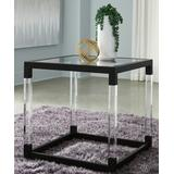 Signature Design by Ashley Furniture End Tables Metallic - Metallic Gray Nallynx Square End Table