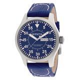 Invicta Men's Watches - Blue INVICTA Leather-Strap Watch