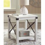 Signature Design by Ashley Furniture End Tables Whitewash - Whitewash Bayflynn Square End Table