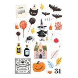 Fancy Pants Designs Craft Paper - Black & Orange A Little Scary Puffy Stickers