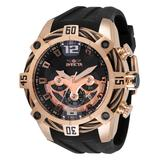 Invicta Men's Watches - Rose Goldtone & Black Bolt Chronograph Bracelet Watch