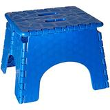 B&R Plastics 101-6B-BLUE EZ Foldz Step Stool