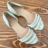 Madewell Shoes   Madewell Leila Sandal Mint Green Suede Flats 10   Color: Green   Size: 10
