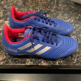 Adidas Shoes | Boys Adidas Predator Soccer Cleats Size 4 | Color: Blue/Red | Size: 4b