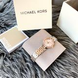 Michael Kors Accessories | Nwt Authentic Mk Silver Rosegold Tone Darci Watch | Color: Pink/Silver | Size: Os