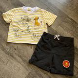 Disney Matching Sets   Boys 6-9 Month Disney Baby Outfit Nwot   Color: Gray/Yellow   Size: 6-9mb