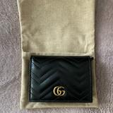 Gucci Bags | Gg Marmont Card Case Wallet | Color: Black | Size: Os