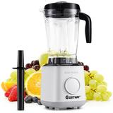 Costway 1500w Countertop Smoothies Blender 10 Speed W/6 Pre-setting Programs in Black/Gray, Size 19.0 H x 7.5 W x 8.0 D in   Wayfair EP24953US
