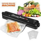 sanheshun Vacuum Sealer Machine Automatic Air Sealing System For Food Preservation +15Bags in Black, Size 14.6 H x 3.0 W x 2.0 D in | Wayfair