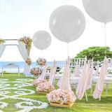Prextex 8 Jumbo 36 Inch Balloons in White   Wayfair ST-9036-8-WHT