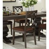 Darby Home Co Mccormack Side Chair (Set-2) Fabric & Espresso (2Pc/1Ctn) 564CE99DEF5C427FA873D1D7FED4A37F Wood/Upholstered in Brown | Wayfair