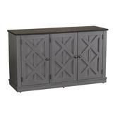 Gracie Oaks 3 - Door Sideboard Buffet Table w/ Cabinet Wood in Gray, Size 27.5 H x 48.0 W x 15.2 D in | Wayfair 674576D676E4436D99F6B0E09B6CE657