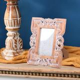 Ophelia & Co. Engraved Flourish Wood Picture Frame Wood in Brown/White, Size 9.53 H x 7.56 W x 0.71 D in   Wayfair 741E18CE3E45498AA4B5D580D5160969