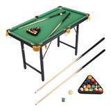 YLLCOMPANYC INC 3.9' Folding Pool Table in Black/Green, Size 29.52 H x 47.24 W x 23.62 D in | Wayfair whm210817191733001