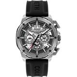 Automatic Skeleton Dial Watch With Silicone Strap - Black - Kenneth Cole Watches