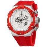 Supersportivo Chronograph Quartz White Dial Watch - Red - Brera Orologi Watches