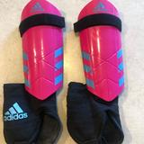 Adidas Accessories   Adidas Youth Ghost Soccer Shin Guard   Color: Pink   Size: Medium
