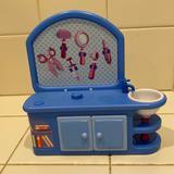 Disney Toys | Disney Doctors Desk Furniture For Doll House | Color: Blue/Yellow | Size: Osg