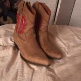 Nine West Shoes   Personalized Little Shorty Cowboy Boots   Color: Red/Tan   Size: 7.5