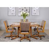 Red Barrel Studio® Chromecraft 5 Piece Dining Set - Florida Wood/Metal/Upholstered Chairs in Brown/Gray/Yellow, Size 30.0 H in | Wayfair
