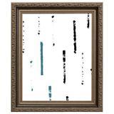 Craig Frames Inc. Embossed Wood Single Picture Frame in Black & Silver Metal in Black/Brown/Gray, Size 32.0 H x 20.0 W x 1.0 D in | Wayfair