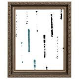 Craig Frames Inc. Embossed Wood Single Picture Frame in Black & Silver Wood in Black/Brown/Gray, Size 24.0 W x 1.0 D in | Wayfair 94832430WAF