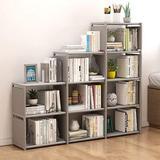 Rebrilliant 9 Cube Storage Organizer Shelves Open Stackable Bookshelf Closet Rack Bookcase Cabinet For Bedroom Living Room Office in Gray | Wayfair