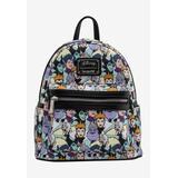 Plus Size Women's Loungefly x Disney Villains Mini Backpack Handbag All-Over Print Cruella De Vil by Disney in Multi