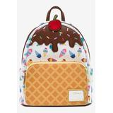 Plus Size Women's Loungefly x Disney Princess Ice Cream Cone Mini Backpack Handbag All-Over Print by Disney in Multi
