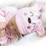 "Zimtown 22"" Handmade Lifelike Baby Girl Doll Silicone Vinyl Reborn Newborn Dolls, Size 7.87 H x 5.12 W x 21.65 D in   Wayfair 464428430809"