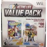 Active Life Value Pack Bundle with Outdoor Challenge and Extreme Challenge Games and Mat