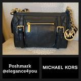 Michael Kors Bags | Michael Korsauthentic Black Leather Bag | Color: Black/Gold | Size: Os