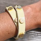 Tory Burch Jewelry   Free Shippingtory Burch Wrap Bracelet Creamgold   Color: Cream/Gold   Size: Os