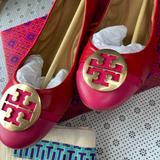 Tory Burch Shoes | Nwt Minnie Cap-Toe Ballet Flat Tory Burch | Color: Pink/Red | Size: 9