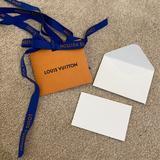Louis Vuitton Party Supplies | Louis Vuitton Ribbon & Blank Gift Card & Envelope | Color: Blue/Orange | Size: Os