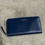 Kate Spade Bags   Kate Spadewellesley Neda Leather Zip Around Wallet   Color: Blue   Size:   7.5l X 1w X 4.25h