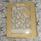 Michael Kors Accessories | Michael Kors Scarf And Hat Set | Color: Gold/White | Size: Os