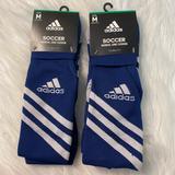 Adidas Accessories | Medium Adidas Soccer Socks | Color: Blue | Size: Medium