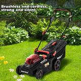 Flang 40V 16 Inch Cordless Twin F-Orce Lawn Mower in Black, Size 16.73 H x 17.91 D in | Wayfair DHAOI02WSZ210318343