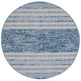 Bay Isle Home™ Whitner Striped Navy/Gray Area Rug Polyester/Polypropylene in Blue/Brown/Gray, Size 0.2 D in   Wayfair