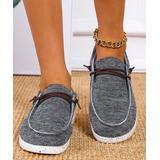 YASIRUN Women's Boat Shoes Deepgrey - Deep Gray Lace-Accent Boat Shoes - Women