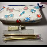 Kate Spade Office   Kate Spade Suns Out Pencil Case   Color: Gold   Size: Os
