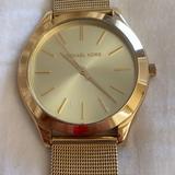 Michael Kors Accessories   Michael Kors Womens Gold Tone Mesh Bracelet Watch   Color: Gold   Size: Os