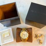 Michael Kors Accessories | Michael Kors Mk5055 Gold Chronograph Watch | Color: Gold | Size: Os