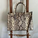Michael Kors Bags | Michael Kors Snake Print Purse | Color: Brown/Cream | Size: Os