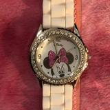 Disney Jewelry | Disney Minnie Mouse Watch | Color: Pink/White | Size: Up To 8