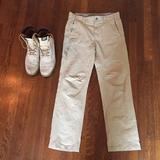 Columbia Pants   Columbia Nylon Water Resistant Hiking Pants (32)   Color: Cream   Size: 32