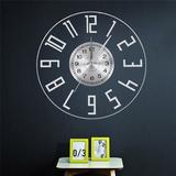 Latitude Run® 12 Inch Easy To Read Big Numbers Modern Silent Wall Clock 7 Color LED Light Digital Electronic Bedside Lamp Luminous | Wayfair