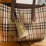 Burberry Bags | Authentic Burberry Reversible Tote Bag | Color: Tan | Size: Small