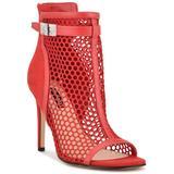 Ididit Peep Toe Dress Shooties - Red - Nine West Boots